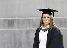Student at her graduation Royalty Free Stock Image