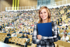 Student in het Klaslokaal Royalty-vrije Stock Foto's
