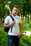 Student in het park Stock Fotografie