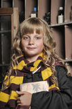 Student of Hogwarts school of magic Royalty Free Stock Photos