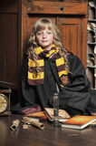 Student of Hogwarts school of magic Royalty Free Stock Images