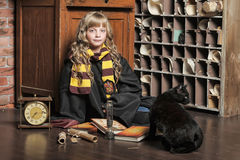 Student of Hogwarts school of magic Royalty Free Stock Photography