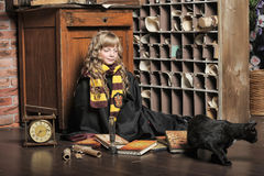 Student of Hogwarts school of magic Stock Photos