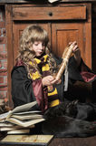 Student of Hogwarts school of magic Stock Photography