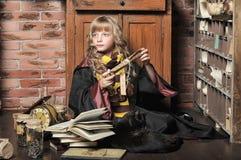 Student of Hogwarts school of magic Stock Image