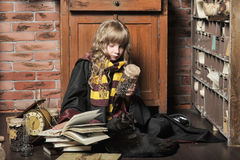 Student of Hogwarts school of magic Stock Image
