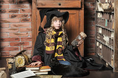 Student of Hogwarts school of magic Royalty Free Stock Image