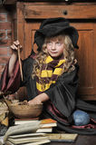 Student of Hogwarts school of magic Royalty Free Stock Photo
