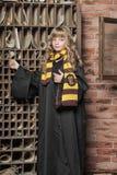 Student of Hogwarts school of magic Stock Photo