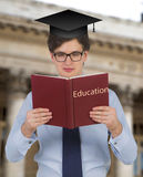 Student holding book Royalty Free Stock Image