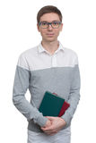 Student holding a book in his hands Royalty Free Stock Photo