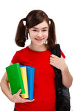 Student holding books Royalty Free Stock Photography