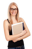 Student holding books Stock Image