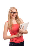 Student holding books Royalty Free Stock Photo