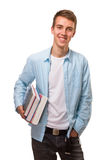 Student holding books Royalty Free Stock Photos