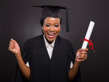 Student holding graduation certificate Royalty Free Stock Photography
