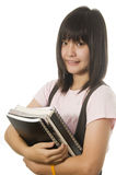Student holding her books Royalty Free Stock Photo