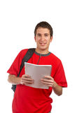 Student holding the notebook Stock Photo