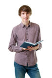 Student holding open book Stock Photography