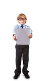 Student holding sheet of paper Royalty Free Stock Image