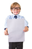 Student holding sheet of paper Stock Photography