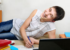Student at Home Royalty Free Stock Images
