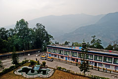 Student Hostel. A student hostel at outside the Ralang Monastery Institute for Higher Buddhist Tibetan studies Royalty Free Stock Photo