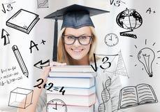 Student i avläggande av examenlock Arkivbilder