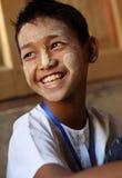 Student i Mandalay Royaltyfri Bild