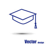 Student icon. Isolated on a white background Stock Image
