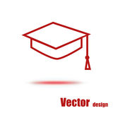 Student icon. Isolated on a white background Stock Photography