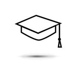 Student icon. Isolated on a white background Royalty Free Stock Image