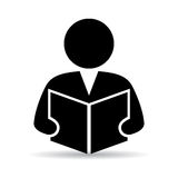 Student icon. On white background Royalty Free Stock Images
