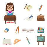 Student icons Royalty Free Stock Photo