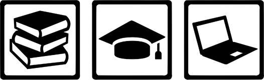 Student Icons vector. Occupation vector Royalty Free Stock Photos