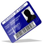Student ID card. 3d illustration of a student ID card Royalty Free Stock Photos