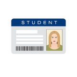 Student ID card Royalty Free Stock Images