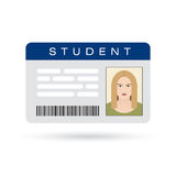 Student ID card Stock Image