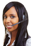 Student In A Callcenter Royalty Free Stock Photos