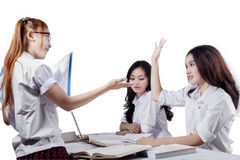 Student inquire a question Stock Photography