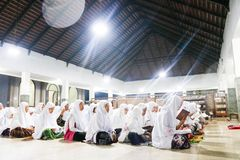 Student islamic Boarding school in Indonesia royalty free stock photos