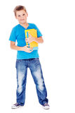 Student in jeans and blue t-shirt Stock Photos