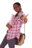 Student-Junge Afroamerikaner Lizenzfreie Stockfotos