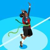 Student Kid College School isometrischer Person Vector Illustration Lizenzfreies Stockfoto