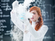 Student lab experiment Stock Photography