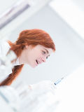 Student lab injection test Royalty Free Stock Photography