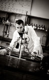 Student in laboratory Royalty Free Stock Photo