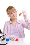 Student in laboratory Royalty Free Stock Photos