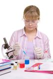 Student in laboratory Stock Images