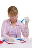 Student in laboratory Royalty Free Stock Images